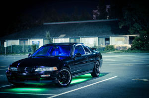 Green car underglow on Acura Legend