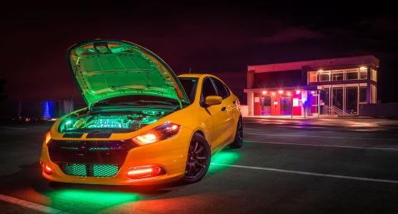 Illegal car lighting